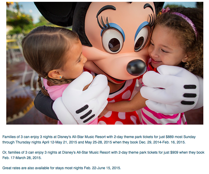 Kid-Sized Package Discount for Spring 2015 at Walt Disney World